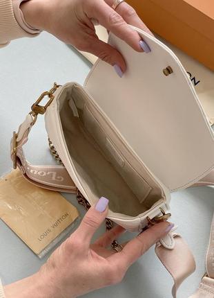 Маленькая белая сумка клатч с кошельком длинная ручка3 фото