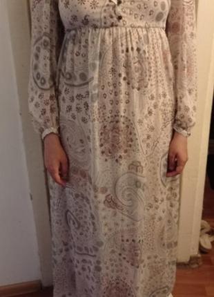 Прекрасное нежное платье макси1 фото