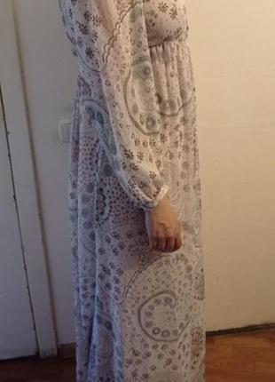 Прекрасное нежное платье макси3 фото