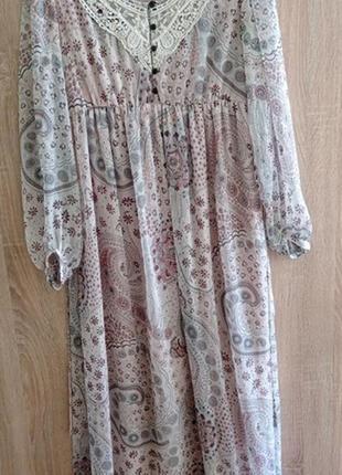 Прекрасное нежное платье макси2 фото