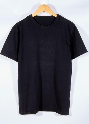 Женская черная футболка, однотонная черная футболка, футболка унисекс, жіноча футболка1 фото