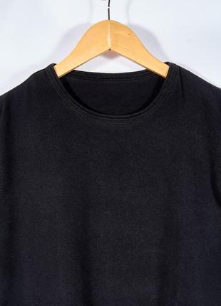 Женская черная футболка, однотонная черная футболка, футболка унисекс, жіноча футболка3 фото