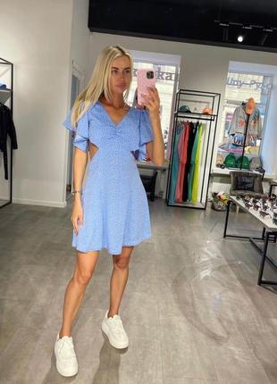 Платье в горошек1 фото