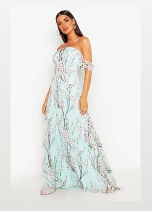 Шикарное платье в пол 🍀boohoo размер м