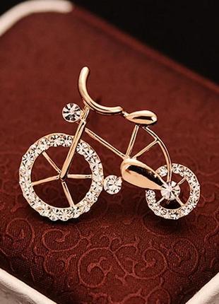 Велосипед брошь.1 фото
