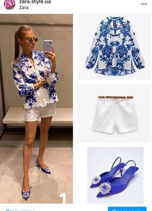 Блуза блузка рубашка zara1 фото
