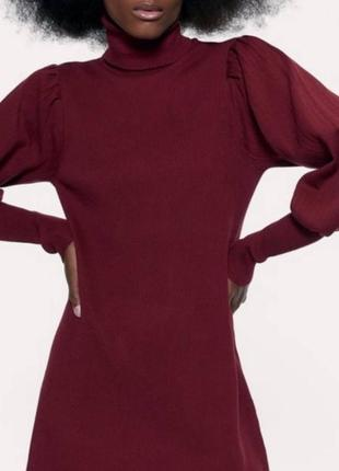 Женское платье цвета марсала zara2 фото