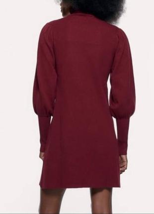 Женское платье цвета марсала zara5 фото