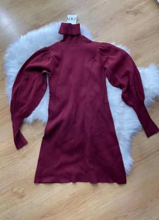 Женское платье цвета марсала zara6 фото