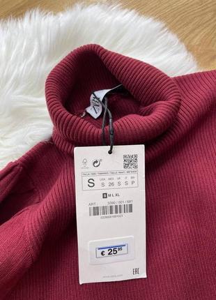 Женское платье цвета марсала zara4 фото
