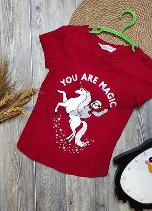Классная футболочка единорог h&m