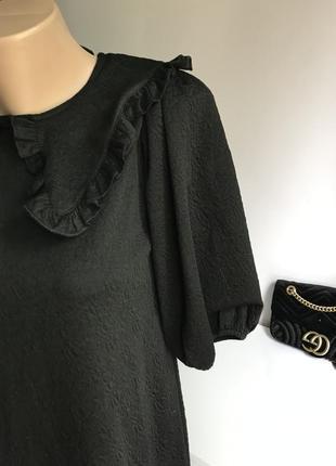 Чёрное платье с воротником zara3 фото