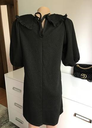 Чёрное платье с воротником zara4 фото