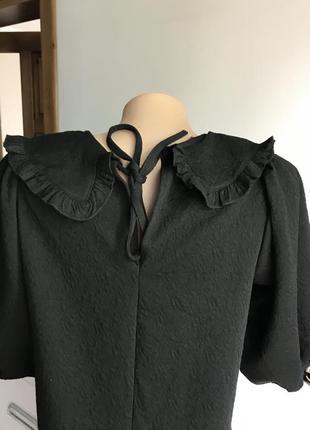 Чёрное платье с воротником zara5 фото