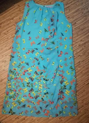 Платье летнее бабочки1 фото