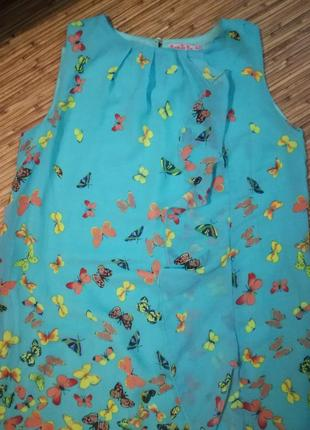 Платье летнее бабочки3 фото