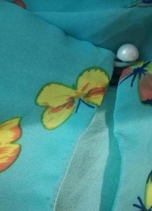 Платье летнее бабочки5 фото