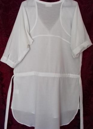 Индия / натуральная тонкая длинная свободная рубашка / туника /блузка /довга сорочка8 фото