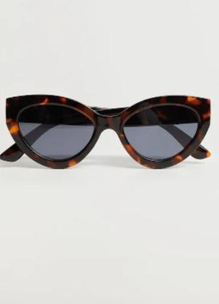 """Солнцезащитные очки """"кошачий глаз"""",  манго"""