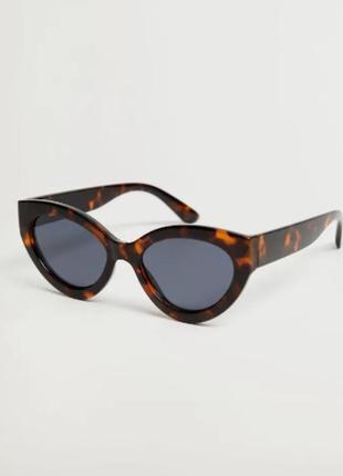 """Распродажа. солнцезащитные очки """"кошачий глаз"""",  манго"""