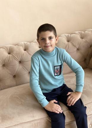 Детская кофта реглан свитер на мальчика рубчик с начёсом на рост 98 104 110 116 122 128 134 140