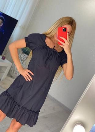 Платье льняное2 фото