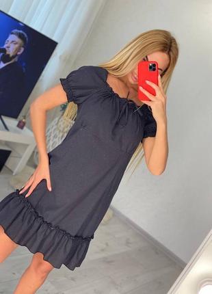 Платье льняное4 фото