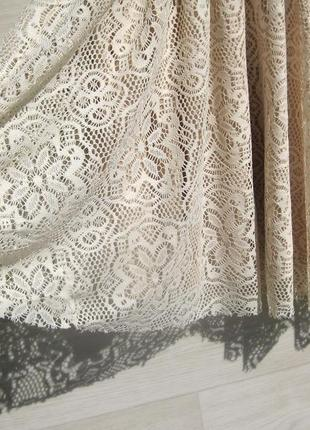Ажурное красивое бежевое платье с открытой спинкой испания5 фото