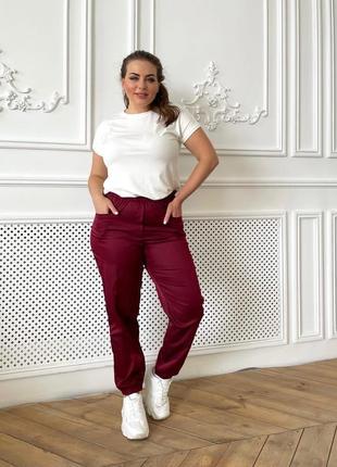 Спортивные штаны женские летние джоггеры джокеры батал