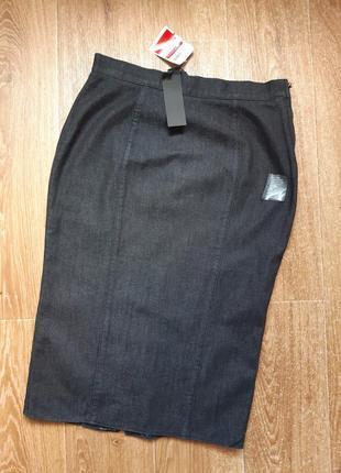 Джинсовая юбка карандаш.