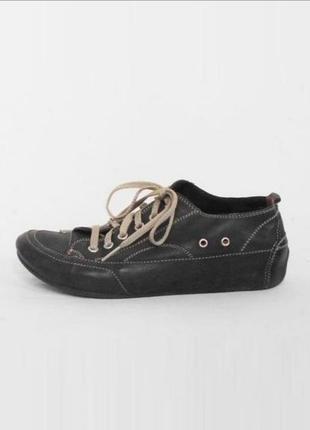 Кожаные городские мокасины кроссовки