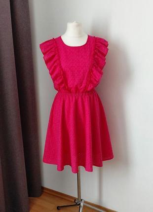 Скидка до 10.08!!!шикарное модное платье из прошвы