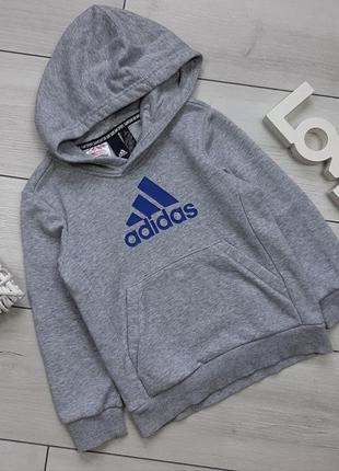 Трикотажная кофта капюшонка adidas