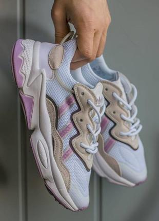 """Кроссовки женские adidas ozweego """"white\grey\rose"""""""