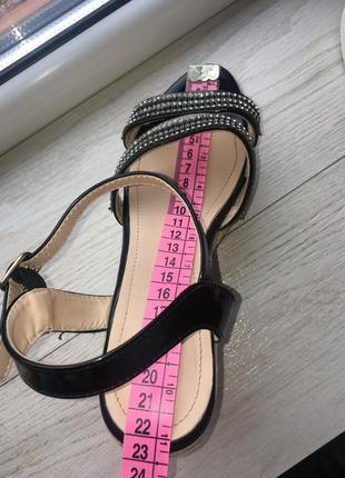 Нарядные сандали на плетёной платформе босоножки3 фото