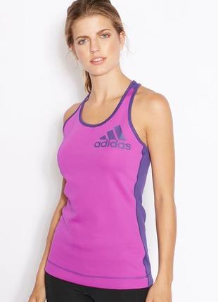 Adidas techfit tank top спортивная эластичная майка футболка