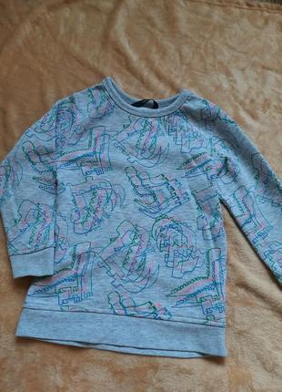 George свитер батник для мальчика или девочки теплый зимний с динозаврами 3 4 года