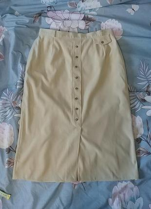 Красивая нюдовая юбка миди c&a1 фото