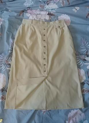 Красивая нюдовая юбка миди c&a2 фото