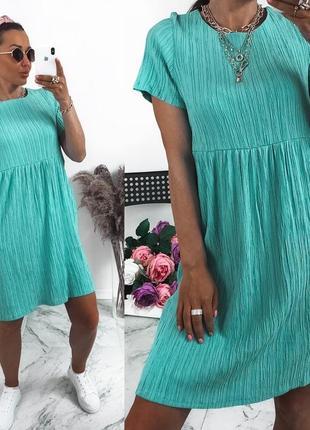 Платье из жатки