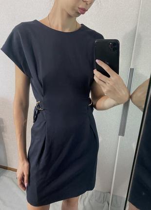 Темно синее платье massimo dutti оригинал