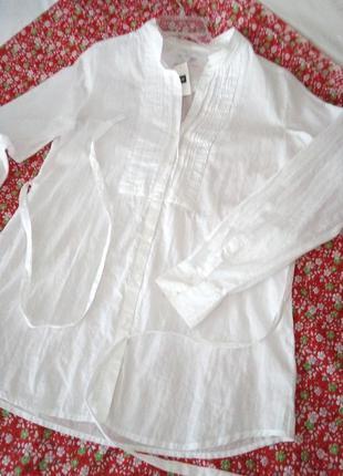Gap рубашка с поясом с длинным рукавом
