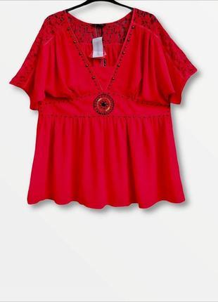 Роскошная шифоновая  блузка большого размера