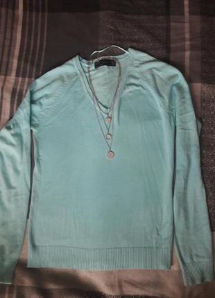 Голубой нежный свитер мягенький джемпер