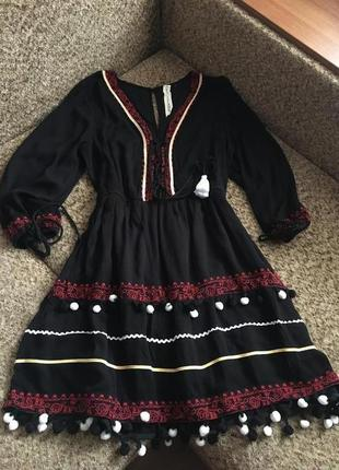 Красивое платье с китицами