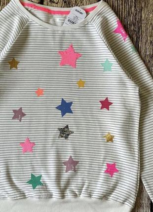 Яркий оригинальный свитер толстовка next свитшот