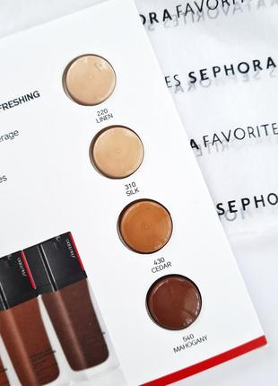 Пробник тонального средства shiseido synchro skin self-refreshing foundation spf 30