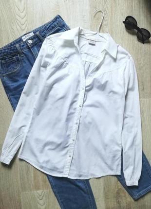 Esprit базовая белая рубашка, офисная рубашка, рубашка в деловом стиле, сорочка, блузка, блуза