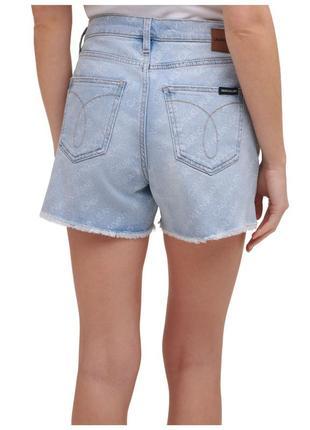 Эксклюзив calvin klein женские джинсовые шорты высокой посадки