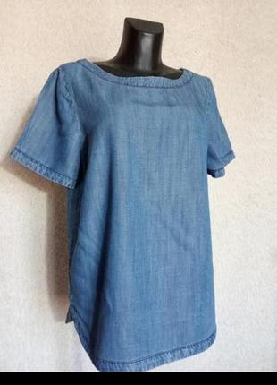 Натуральная блуза под джинс, лиоцел